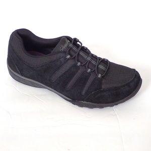 SKECHERS Imagine Black Suede Leather
